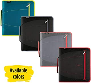 Five Star Zipper Binder, 2 Inch 3 Ring Binder, Removable File Folders, Durable, Color Selected For You, 1 Count (29036)