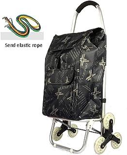 Compras plegable / plegable Carrito de la compra / portátil de carro del equipaje / bolso de compras bolso de la carretilla Luz Inicio de comestibles Compras pequeño carro (capacidad de carga: 40 Kg)