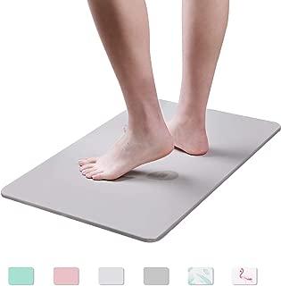 Egofine Bath Mat - Absorbent Diatomaceous Earth Bath Mat, Deodorant Non Slip Fast Drying for Bathroom Floor in 23.6