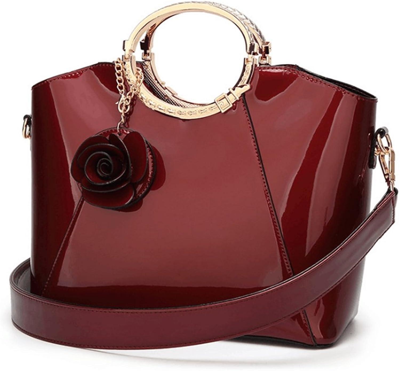 Hakshduw Damen - - - Lackleder - Struktur Schulter Handtaschen Ladies Abend - Party B07LCD1MFS  Guter Markt 557faa