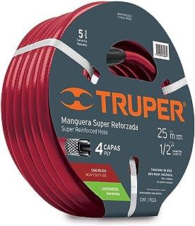 Truper MAN-25X1/2X, Manguera armada super reforzadas 4 capas
