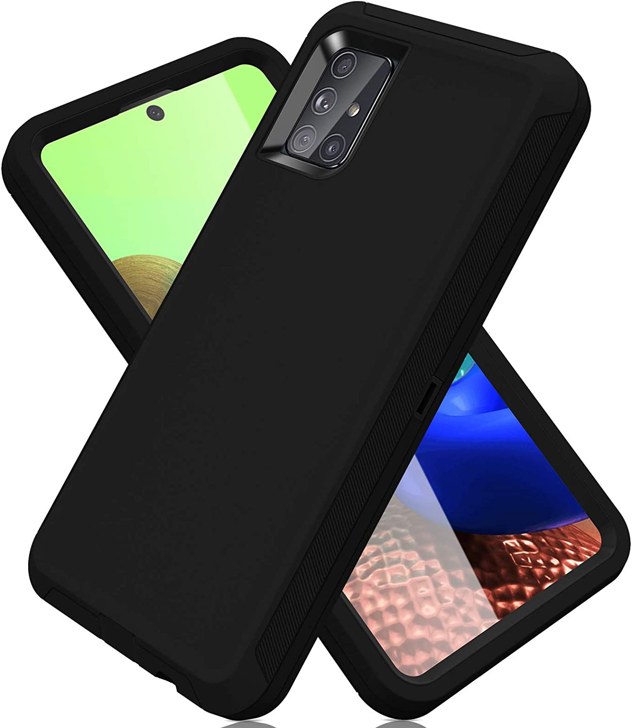 ACAGET for Samsung A71 5G Case, Galaxy A71 Case 5G Heavy Duty Protective Armor Shock-Absorbing Dual Layer Rubber TPU + PC Cover Non-Slip Bumper Phone Cases for Samsung Galaxy A71 5G Black