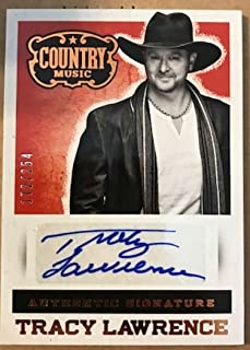 2014 Panini Country Music Signatures #S-TL Tracy Lawrence Auto Autograph SER/254