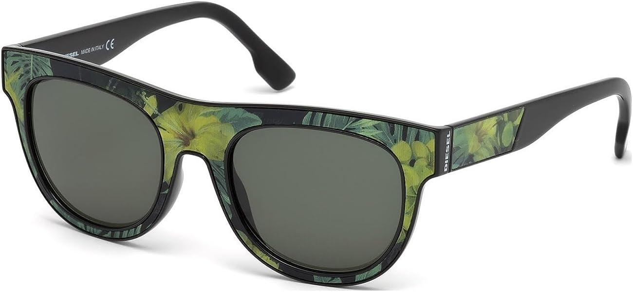 Diesel Plastic Frame Green Lens Unisex Sunglasses DL01605295N