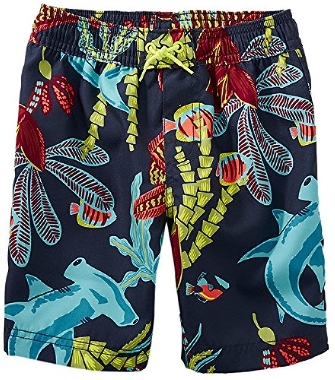 [ティコレクション] 子供服 キッズ 水着 男の子 ボーイズ インポート UPF40+ ネイビー 海の中 8S23600R-F01