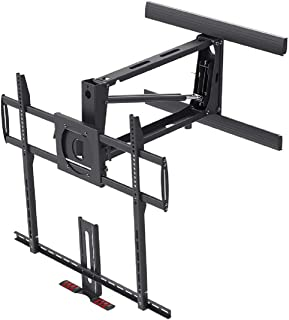 Monoprice Above Fireplace Pull-Down Full-Motion Articulating TV Wall Mount Bracket For TVs 55in to 100in, Max Weight 154lb...
