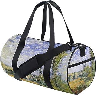 Duffel Bags Monet Landscape Flower Womens Gym Yoga Bag Small Fun Sports Bag for Men