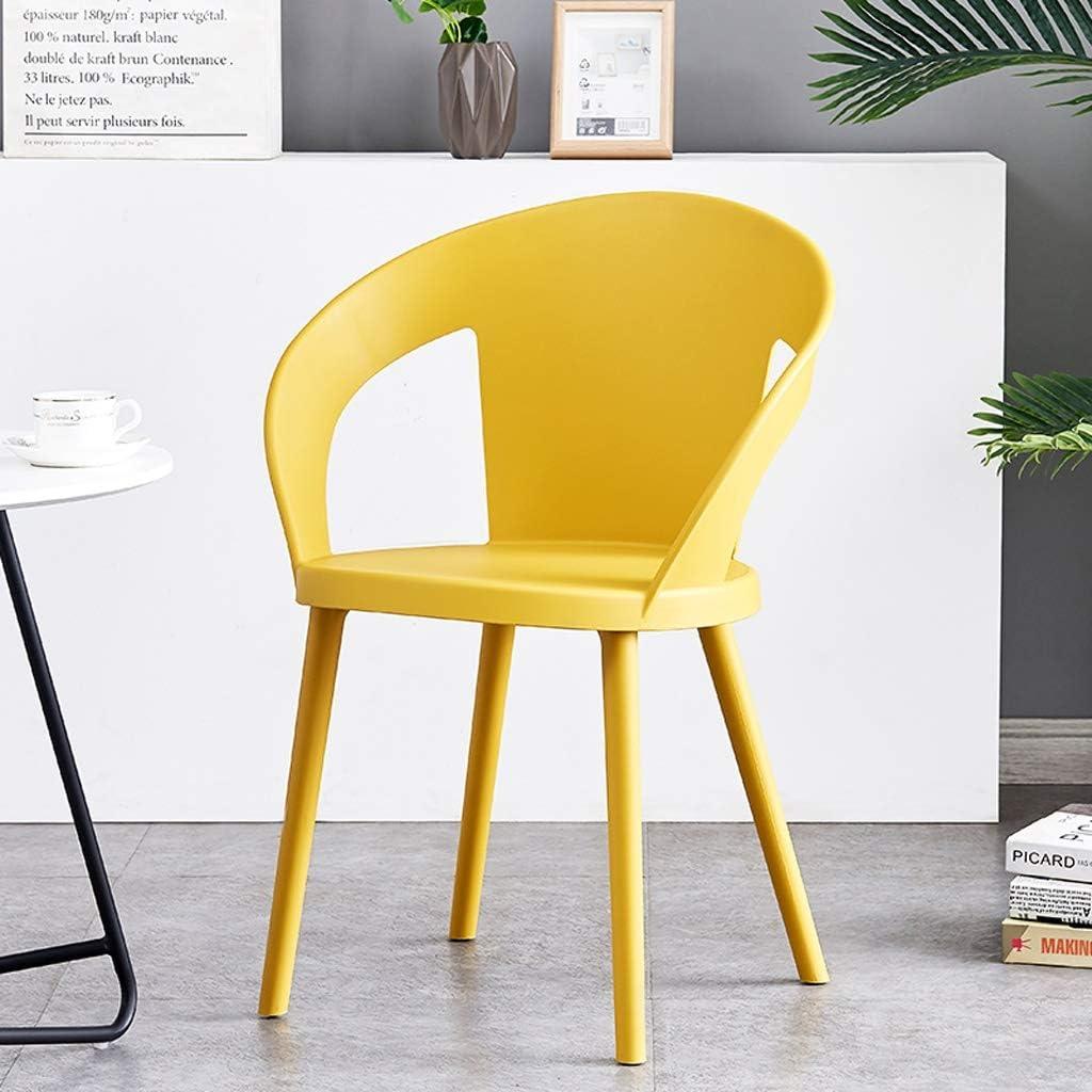 SLL- Chaise de Salle, Chaise de Bureau Simple, créative Dossier, Chaise Loisirs, Maison Adulte Chaise de Salle Moderne (Color : Black) Yellow