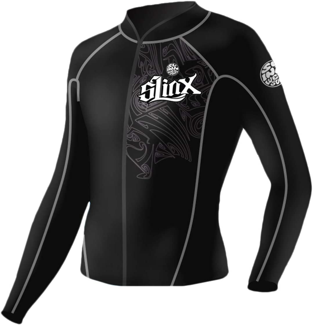 pandawoods Wetsuit top 2mm Long Neoprene Jacket Raleigh Mall Popular shop is the lowest price challenge Sleeve f