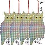 4 Pezzi Deterrente per Uccelli Spavento Gufi Riflettenti Repellente Uccelli Gufo Laser Rep...