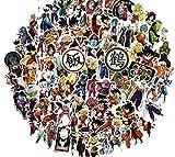 [100 Stück] Dragon Ball Aufkleber Z • Decal DBZ Anime Goku Super Saiyan Vinyl Vegeta Bulma...