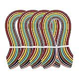 PandaHall Elite 1440 Strisce 36 Colori Carta per Quilling Mestiere Fai da Te, Colore Misto, 525x3mm, Circa 360strips / Bag, 36color / Bag