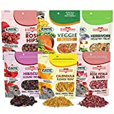 ✔ 100% NATURAL - no added color, flavor, or preservatives ✔ HERBIVORES - Suggested for:squirrels, guinea pigs, rabbits, chinchillas, prairie dogs, degus, hamsters, gerbils and other herbivores. ✔ FORAGING - Small size enables you to put in toys to e...