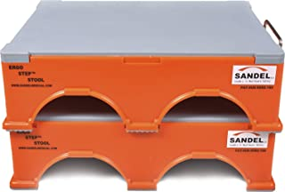 Ergo-Step Stool, Stackable, Orange (2 top stools and 2 bottom stools)
