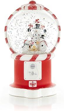 ReLIVE Christmas Light-Up Snow Globe - Gumball Machine Lantern - Peppermint Snowmen