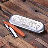 Personalized Old Fashioned Razor Sharp Blade with Tin Box - Great for Grooming Groomsmen or Men Birthdays Boyfriend Gift