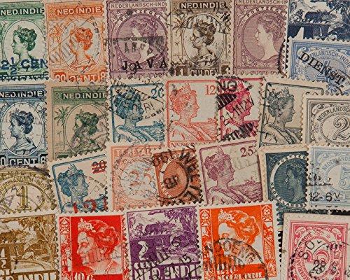 Goldhahn 25 Niederländisch Indien Briefmarken für Sammler
