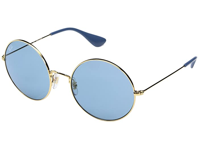1960s Sunglasses | 70s Sunglasses, 70s Glasses Ray-Ban 0RB3592 55mm Shiny Gold FrameLight Blue Mirror Light Green Lens Fashion Sunglasses $117.99 AT vintagedancer.com