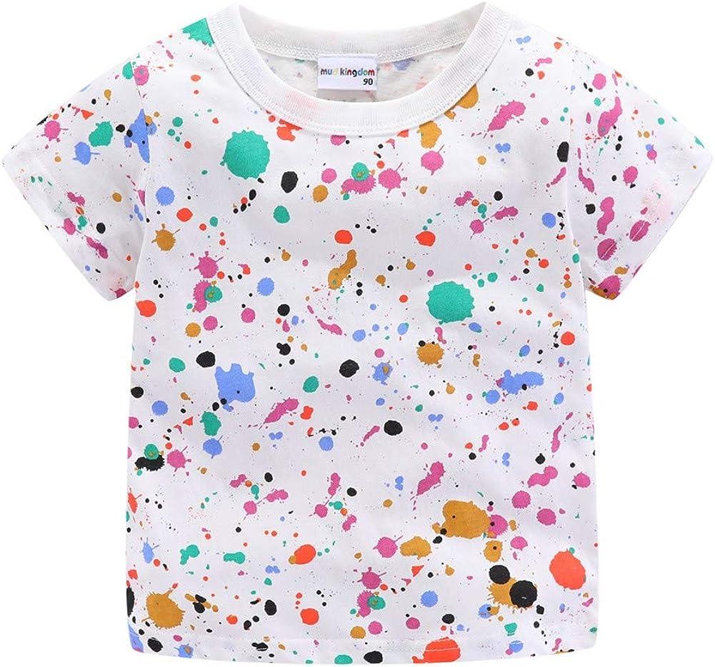 Mud Kingdom Little Boys T-Shirts Colorful Cute Summer