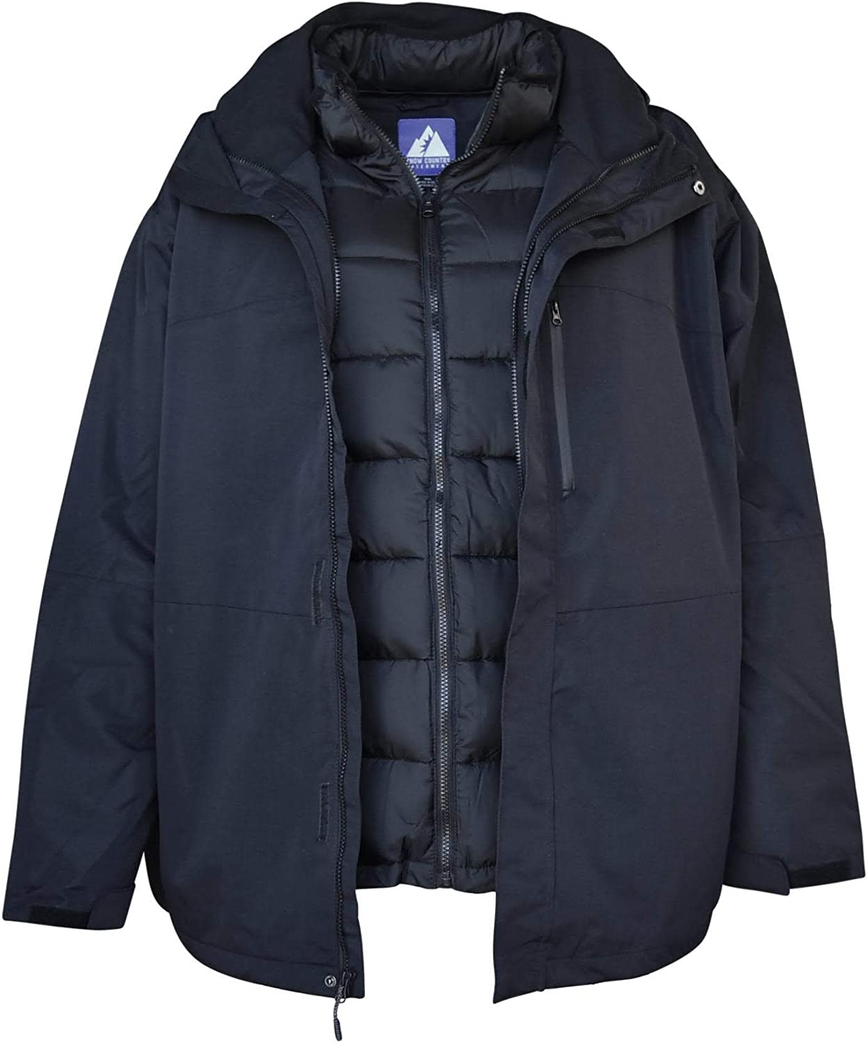 Snow Country Outerwear Mens 3in1 Burlington Jacket Coat Big Sizes