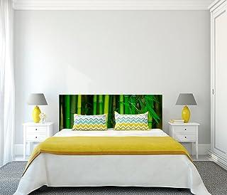Cabecero Cama PVC Impresión Digital Bambú Multicolor 150 x 60 cm | Disponible en Varias Medidas | Cabecero Ligero, Elegante, Resistente y Económico