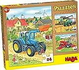 Haba-300444 Puzzles Tractor y compañía Puzle Infantil, Multicolor (300444)