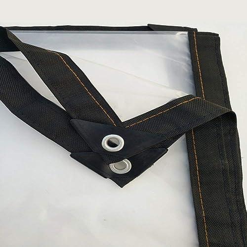 HCYTPL Toile en Plastique résistante imperméable de bache Transparente avec Le Film d'isolation d'usine de Boucle en métal, 17 Tailles, Taille  3x5m,4  4m