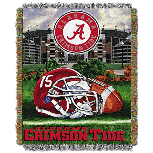 Alabama Crimson Tide NCAA Woven Tapestry Throw (Home Field Advantage) (48x60 )
