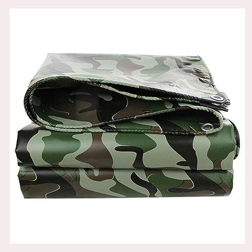 Tentes WP@ Bache Polyvalente en Poly, matériau épais résistant, imperméable, idéale pour bache de Prougeection en bache, Bateau, Camping-voiture ou Couverture de Piscine (Couleur  Camouflage)