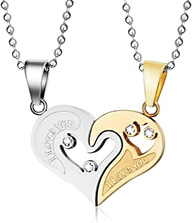 I Love You Couples Necklace for Women and Men Couples Gifts 20