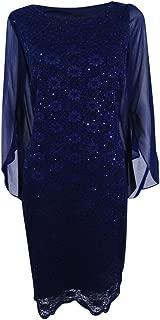 Womens Angel Sleeves Sheath Cocktail Dress