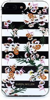 Karen Millen Fashion Slim Jelly Case for iPhone 8 Plus / 7 Plus / 6 Plus - Floral Stripe
