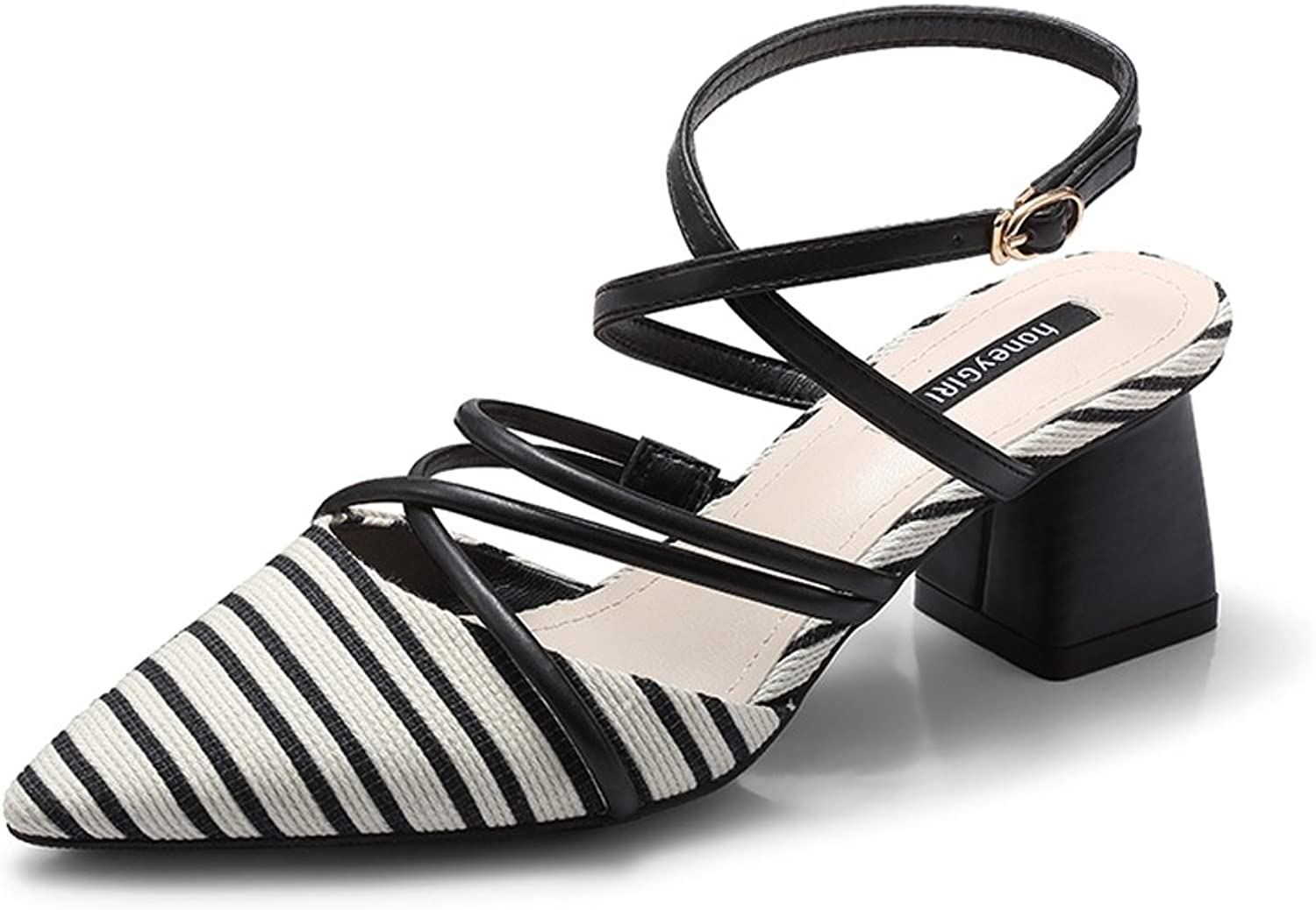 Female High Heels Wild Strap shoes Sandals with Coarse shoes