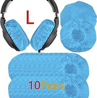 Geekria 10pairs Cubierta de Auriculares Fits AKG K701, Q701, HD900, HD800, HD650, Beyerdynamics DT880, DT990/ Large-Sized Protectores Sanitarios Desechables(Azul)