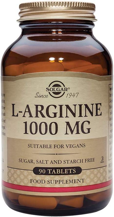 Solgar L-Arginina Comprimidos de 1000 mg, Envase de 90