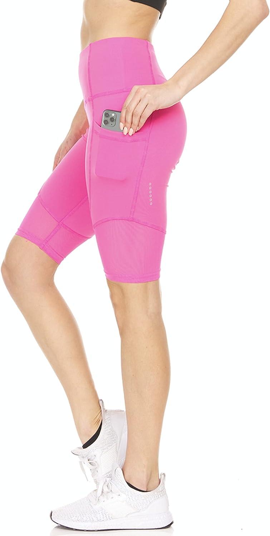 RAG Designed in USA Women's High Yoga Free Classic shipping New Shorts Biker Workout Waist
