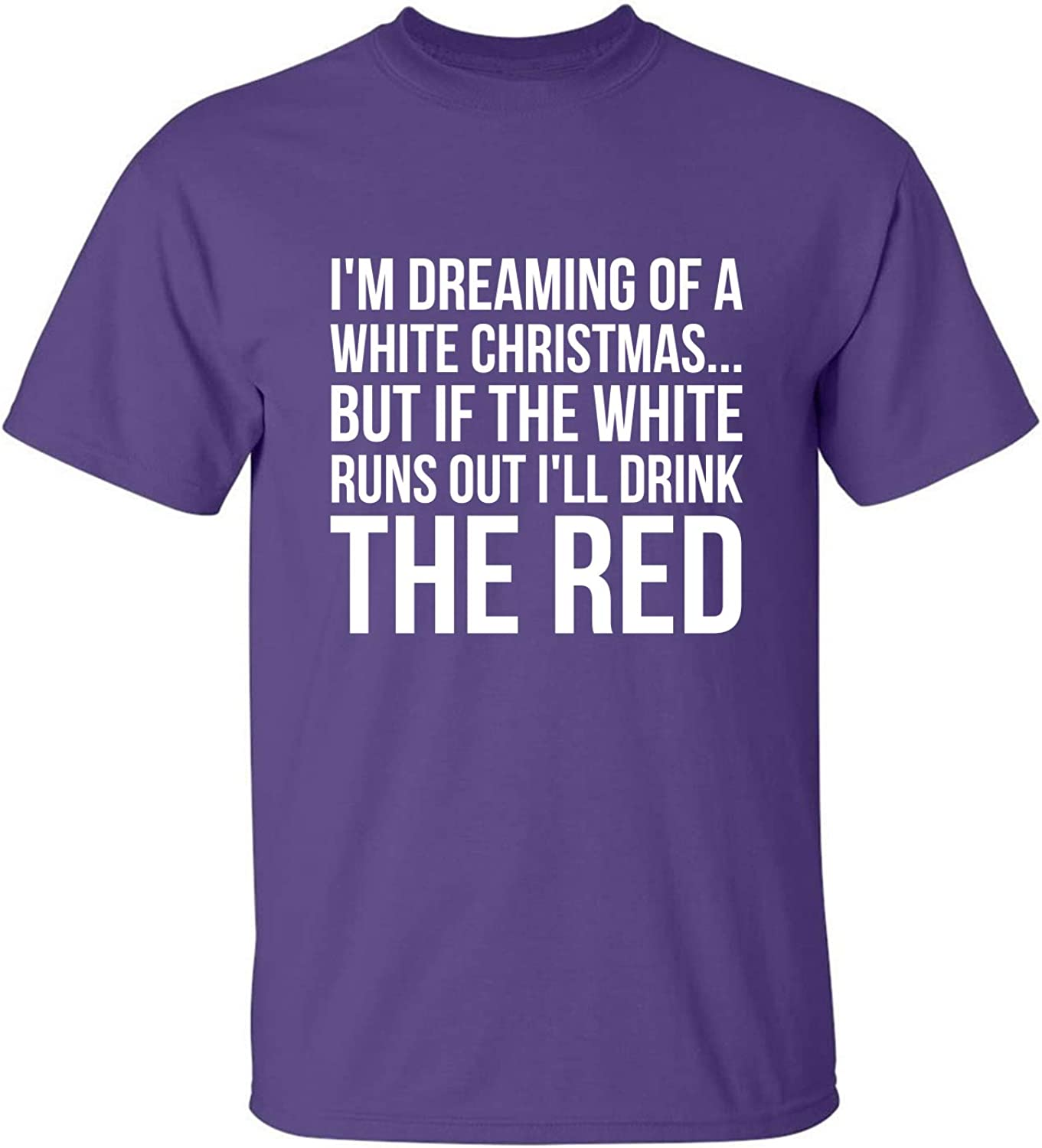 I'm Dreaming of A White Christmas Adult T-Shirt in Purple - XXXX-Large