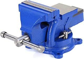 Bench Vise, 4inch Multi-Purpose Work Bench Vice Table Top Clamp Engineers Locking Swivel Base Table Top Clamp Press Jaw Wo...