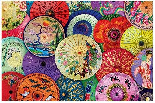 Ombrelli asiatici in carta oleata Grandi 1000 pezzi Puzzle per adulti Bambini Regalo fai da te Puzzle in legno