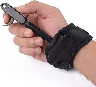 Elong Archery Compound Bow Release Aid Trigger Caliper Release - Adjustable Black Wrist Strap