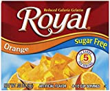 Royal Orange Gelatin Dessert Mix, Sugar Free and Carb Free (12 - .32oz Boxes)