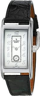 Peugeot Men's Classic Vintage Contour Leather Band Watch