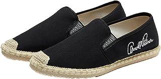 Hommes Espadrilles Respirantes Chaussures en Toile Légères Antidérapantes Slip-on Low-Top Loisirs Mocassins De Couleur Unie
