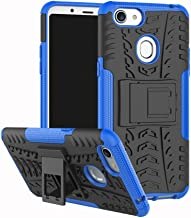 Shockproof Compatible with OPPO F5 Case, Personality Creativity Hyun Pattern Dual Layer Hybrid Armor Kickstand 2 In 1 Shockproof Case Cover Compatible with OPPO F5 / OPPO F5 Youth (Color : Blue)