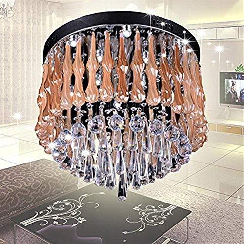 WEI-LUONG Lámpara de araña de Lámparas Colgantes Moderna Ronda K9 araña de Cristal, Sala de Estar lámpara de la lámpara de iluminación Creativa Dormitorio suspensión de la lámpara