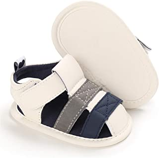 KIDSUN Infant Baby Boy Girl Shoe Sports Beach Sandals Summer Infant Anti-Slip Sole First Walkers Crib Shoe