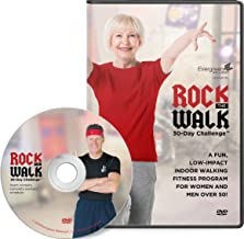 Evergreen Wellness Rock The Walk 30-Day Workout Challenge DVD for Beginners and Seniors - The Low Impact, Indoor Walking Exercise Program