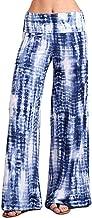iHHAPY Woman Yoga Pants Palazzo Pants Breathable Wide Leg Pant Bohemia Style Print Sports Trousers High Waist Thread