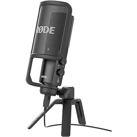 Rode NT-USB Microfono a Condensatore con Filtro Anti-pop e Supporto da Tavolo, Compatibile con iPad, Cavo USB da 6 m, Nero/Antracite