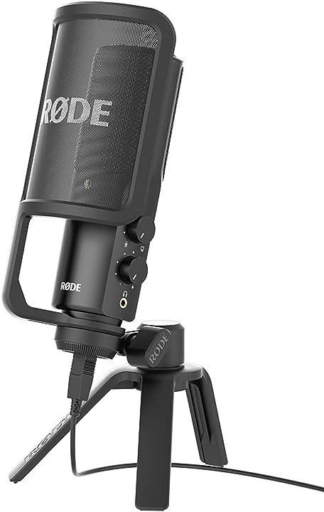Microfono a condensatore con filtro anti-pop e supporto da tavolo, compatibile con ipad, cavo usb da 6 m rode B00KQPGRRE